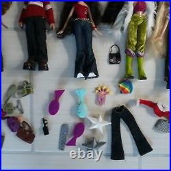10 Bratz Dolls withOrig Clothes +Case, Clothing, Shoes Lot VGUC READ DESCRIPTION