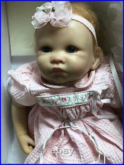 18 Ashton Drake Baby Girl Vinyl Doll Little Rose Petal Adorable MINT In Box