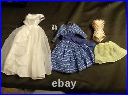 1958 Mattel Blonde Ponytail Barbie+ 1962 Fashion Queen + Case & Clothes