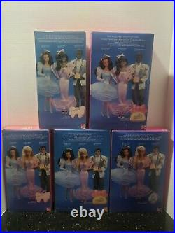 1987 Perfume Pretty Barbie Whitney and Giving Ken Complete Set AA NRFB Lot