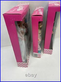 1990 Wedding Day Barbie Ken Kelly & Todd Gift Set Dolls In Original Shipper