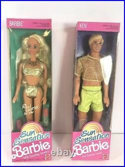 1991 Sun Sensation Barbie Lot of 7 NRFB COMPLETE SET RARE HTF GREAT CONDTION