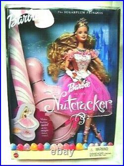2001 Sugarplum Princess Barbie Prince Eric Ken Kelly NUTCRACKER Doll Set 8 NRFB