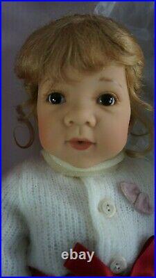 23 Gotz Amelie Vinyl Doll w Teddy Bear Elisabeth Lindner Danbury Mint NIB