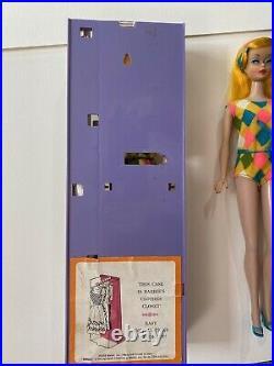 2 Vtg Barbie Color Magic Lot VHTF Stunning! All Original! Case Clothes Stand