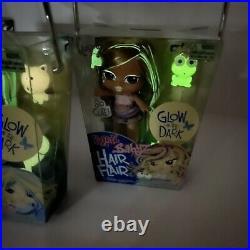 3 Bratz Babyz Baby Doll GLOW IN THE DARK Hair Flair CLOE JADE Yasmín RARE MGA