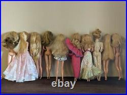 80s Superstar Era Barbie Ken 10 doll lot Dream Date PJ, Dream Glow + more dolls