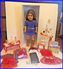 American Girl 18 SAIGE DOLL in Meet Outfit with Book plus MUCH MORE