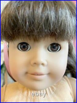 American Girl Doll Samantha Pleasant Company, RARE DREAMER Eyes! Tan Body, READ