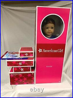 American Girl SAIGE doll and starter collection set BRAND NEW Parade Outfit