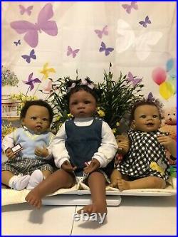 Ashton-Drake Lot of 3 Michael, Jasmine at 1 1/2, Taylor Ticklish Toes COAs
