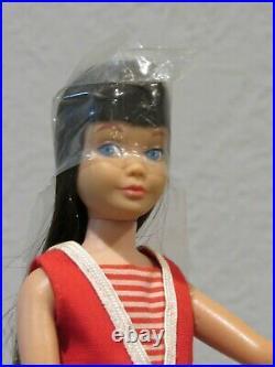 Barbie 1963 Straight Leg Brunette Skipper #950 Mint In Box Wrist Tag, Cello