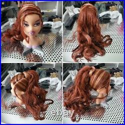 Bratz Dolls Head Gamez Collection Jade Cloe Dana Meygan Doll Snap On Doll Set