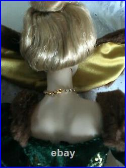 FRANKLIN MINT 15Vinyl DOLL PHOEBE Gibson Girl in Gown, Jewelry SET & Faux Stole