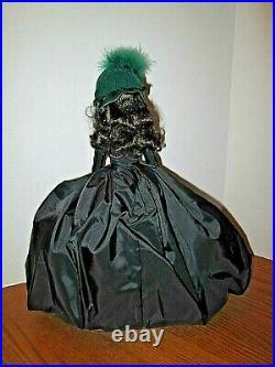 Franklin Mint 15 Vinyl Scarlett Doll in Mourning Dress pre-owned