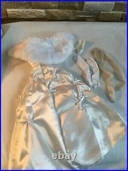 Franklin Mint 16Vinyl Princess GRACE Doll White ENGAGEMENT OUTFIT withWrap +Shoes