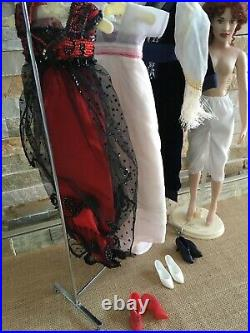 Franklin Mint 16 Vinyl TITANIC ROSE DOLL withSTAND + 3 OUTFITS Dress & Shoes Sets