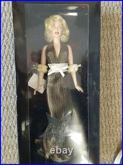 Franklin Mint Doll Marilyn Monroe Gold Lame Vinyl Doll 15.5 Limited Edition 750