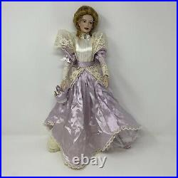 Franklin Mint Gibson Girl Easter Parade Vinyl Doll Purple Dress Gown Rare