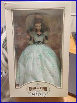 Franklin Mint Gone With The Wind Scarlett O'Hara Vinyl Portrait Doll NIB