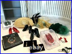Franklin Mint Gone with the Wind Scarlett O'hara Doll, Trunk, 6 Outfits, Beautiful