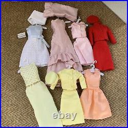 Franklin Mint Jackie Kennedy Doll Wardrobe Trunk 8 Outfits Jewelry Accessories