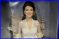 Franklin Mint Kate Middleton Vinyl Wedding Bride Doll With COA