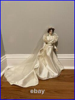 Franklin Mint Lily Gibson Girl Bride Vinyl Portrait Doll NIB RARE 15 New In Box