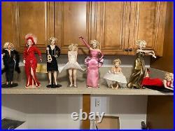 Franklin Mint MARILYN MONROE VINYL Dolls Selling as a Group 8 in total