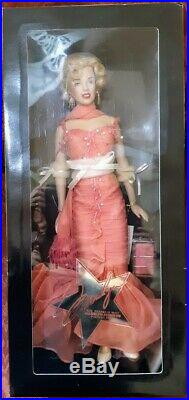 Franklin Mint Marilyn Monroe PLATINUM PREMIER 16 Portrait DollCoral Gown MIB