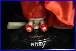 Franklin Mint Marilyn Vinyl Doll Christmas Red Satin 16 Limited Edition/ 1000