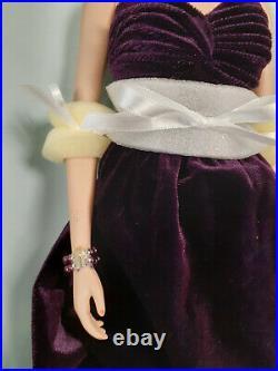 Franklin Mint Princess Diana Vinyl Doll PURPLE SILK VELVET Gown LE 0178/1000 COA