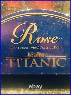 Franklin Mint Rose Vinyl Portrait Doll Titanic Movie Red Jump Dress New In Box