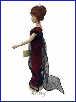 Franklin Mint TITANIC ROSE Vinyl Portrait Doll, Trunk, 6 Outfits, accessories