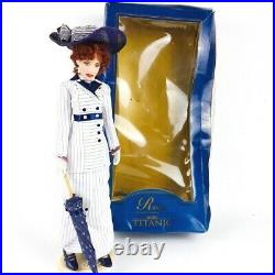 Franklin Mint Titanic Rose Doll Boarding Outfit, Stand Crushed box + Jump Dress