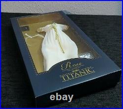 Franklin Mint Titanic Rose Vinyl Portrait Doll The Yellow & Cream Lace Ensemble
