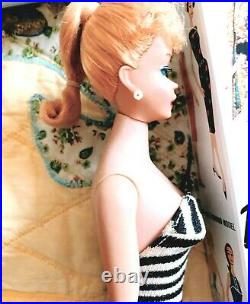 Gorgeous Vintage #5 Blonde Ponytail Barbie in Mint Repro Box withAccessories! WOW