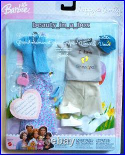 Grandpa Grandma Barbie Doll Ken Happy Family Neighborhood Fashions NRFB Lot 4