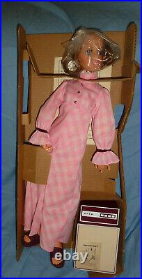 HARMONY 21 INCH TALL MUSIC MAKIN DOLL By IDEAL MINT iN BOX COMPLETE 1972