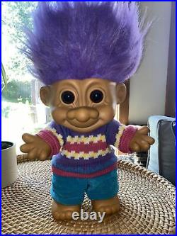 HUGE 17 All Original Fully Jointed Russ Troll Figure. Rare