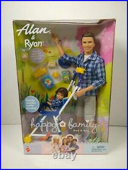 Happy Family Alan & Ryan Dad and son 2002 NRFB 56710 Mattel with Sporty Stroller