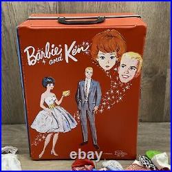 Huge Vintage Barbie Ken Lot 1960s #4 With Closet Clothes Pamphlets Accessories