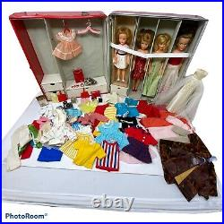 Ideal Tammy & Family Lot Tammy's Mom Pepper Misty Clothes Accs 2 Vinyl Cases
