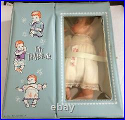 Ideal Tiny Thumbelina Doll in Case with Outfits, Booties, Comb Vintage 1960s