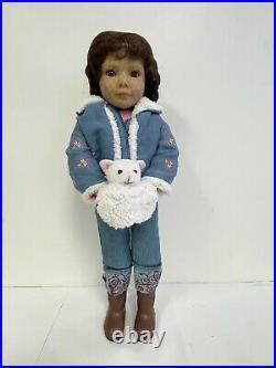 Kidz N Cats Doll LAURA Sonja Hartmann 18 inch MINT 2015 with Lisbeth Outfit Denim