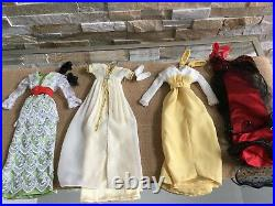 LOT of 4 Franklin Mint 16 Vinyl TITANIC Rose Doll OUTFITS Dresses with Shoes