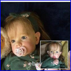 Liam By Bonnie Brown, Chunky toddler. Beautiful Long Brown Human Hair