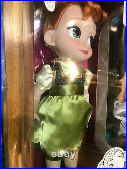 Lot of 10 Disney Animators Collection Dolls Ariel, Belle, Tiana, Jasmine +More