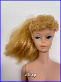 Lot of 2 Vintage #5 Ponytail Barbie Dolls Carry Case Original Outfits & More