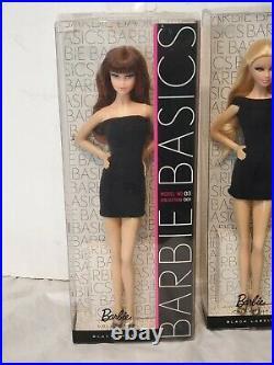 Lot of 4 2009 Barbie Basics Collection 001 Dolls MODELS 01, 02, 03 & 06 NIB